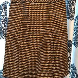 Talbots tweed drop waist pleated skirt